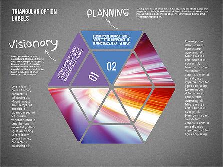 Set Of Triangular Option Labels, Slide 10, 02133, Stage Diagrams — PoweredTemplate.com