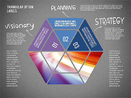 Set Of Triangular Option Labels, Slide 11, 02133, Stage Diagrams — PoweredTemplate.com