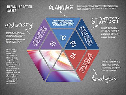 Set Of Triangular Option Labels, Slide 12, 02133, Stage Diagrams — PoweredTemplate.com
