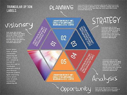 Set Of Triangular Option Labels, Slide 13, 02133, Stage Diagrams — PoweredTemplate.com