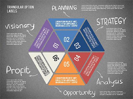 Set Of Triangular Option Labels, Slide 14, 02133, Stage Diagrams — PoweredTemplate.com
