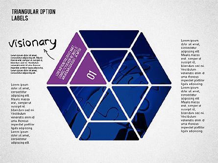 Set Of Triangular Option Labels Slide 2