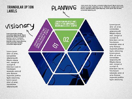 Set Of Triangular Option Labels Slide 3