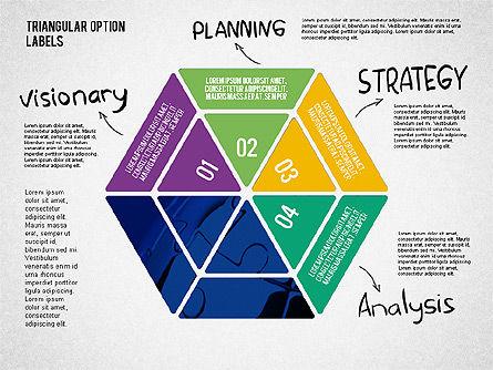Set Of Triangular Option Labels, Slide 5, 02133, Stage Diagrams — PoweredTemplate.com