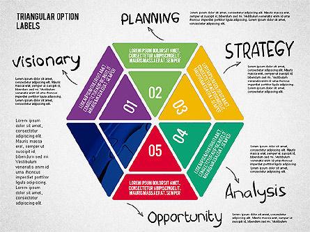 Set Of Triangular Option Labels, Slide 6, 02133, Stage Diagrams — PoweredTemplate.com