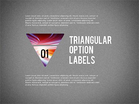 Set Of Triangular Option Labels, Slide 8, 02133, Stage Diagrams — PoweredTemplate.com