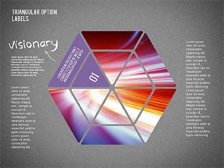 Set Of Triangular Option Labels, Slide 9, 02133, Stage Diagrams — PoweredTemplate.com