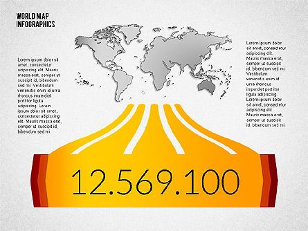 World Map Infographics, Slide 4, 02137, Infographics — PoweredTemplate.com