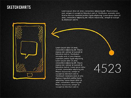 Presentation with Sketch Style Shapes, Slide 16, 02138, Shapes — PoweredTemplate.com