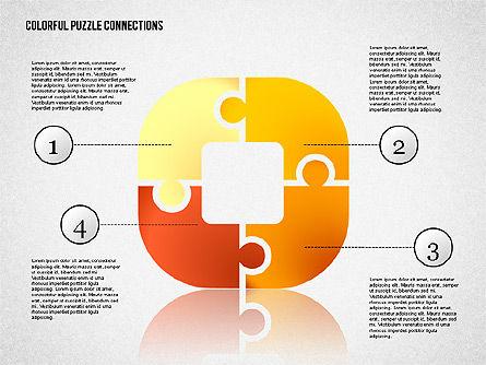 Colorful Puzzle Connections, Slide 2, 02139, Puzzle Diagrams — PoweredTemplate.com
