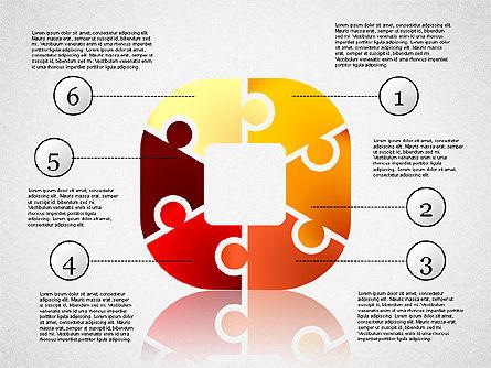 Colorful Puzzle Connections, Slide 4, 02139, Puzzle Diagrams — PoweredTemplate.com