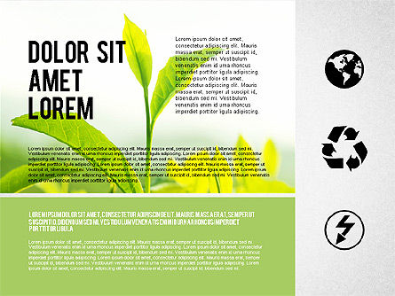 Presentation Templates: Ecological Presentation in Flat Design  #02141