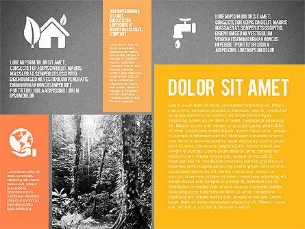 Ecological Presentation in Flat Design , Slide 10, 02141, Presentation Templates — PoweredTemplate.com