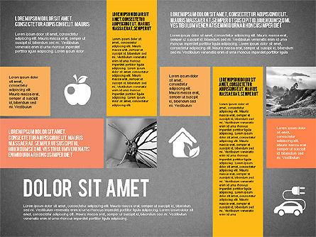 Ecological Presentation in Flat Design , Slide 11, 02141, Presentation Templates — PoweredTemplate.com