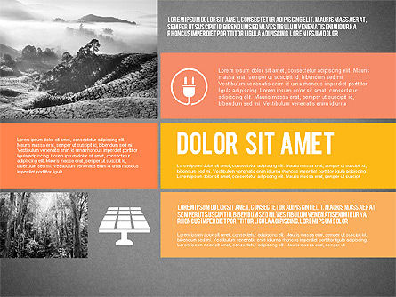 Ecological Presentation in Flat Design , Slide 12, 02141, Presentation Templates — PoweredTemplate.com
