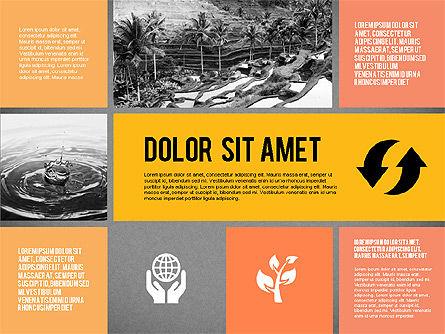 Ecological Presentation in Flat Design , Slide 13, 02141, Presentation Templates — PoweredTemplate.com