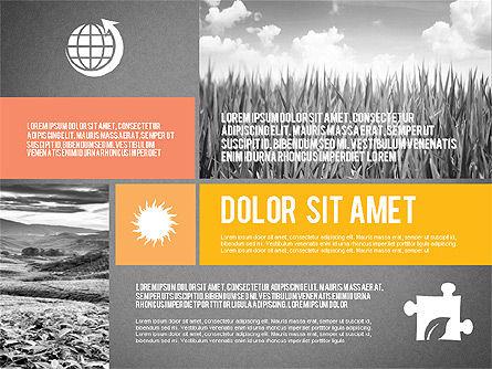 Ecological Presentation in Flat Design , Slide 15, 02141, Presentation Templates — PoweredTemplate.com