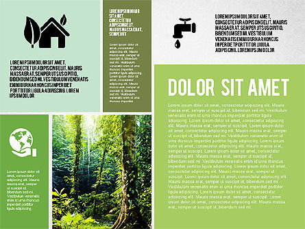 Ecological Presentation in Flat Design , Slide 2, 02141, Presentation Templates — PoweredTemplate.com