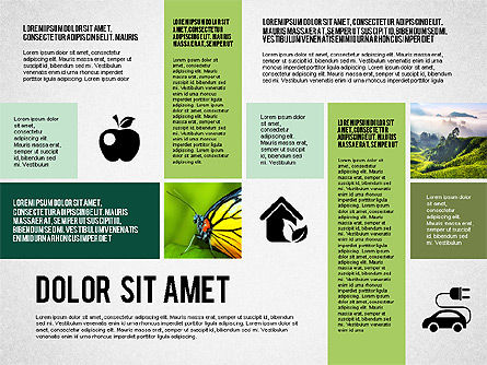 Ecological Presentation in Flat Design , Slide 3, 02141, Presentation Templates — PoweredTemplate.com