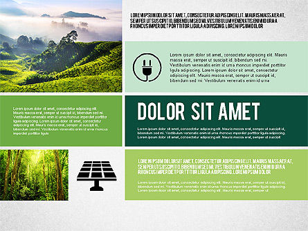 Ecological Presentation in Flat Design , Slide 4, 02141, Presentation Templates — PoweredTemplate.com