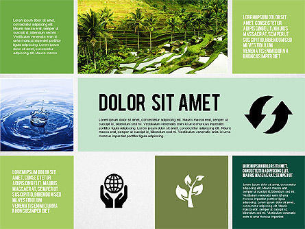 Ecological Presentation in Flat Design , Slide 5, 02141, Presentation Templates — PoweredTemplate.com