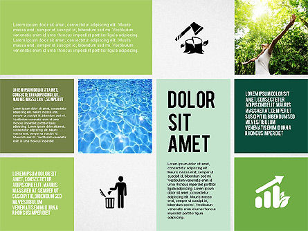 Ecological Presentation in Flat Design , Slide 6, 02141, Presentation Templates — PoweredTemplate.com