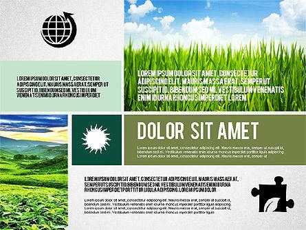 Ecological Presentation in Flat Design , Slide 7, 02141, Presentation Templates — PoweredTemplate.com