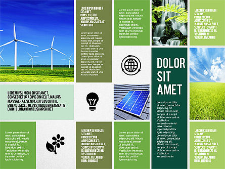 Ecological Presentation in Flat Design , Slide 8, 02141, Presentation Templates — PoweredTemplate.com