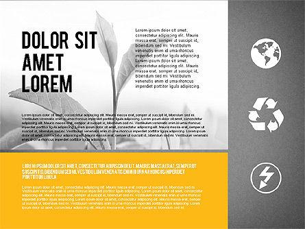 Ecological Presentation in Flat Design , Slide 9, 02141, Presentation Templates — PoweredTemplate.com