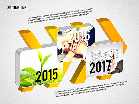 Timelines & Calendars: 3D Chevron Timeline Diagram #02142
