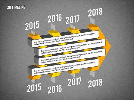 3D Chevron Timeline Diagram, Slide 10, 02142, Timelines & Calendars — PoweredTemplate.com