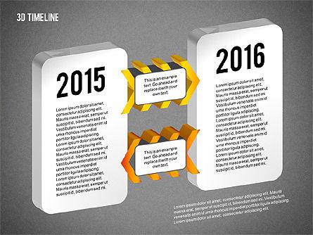 3D Chevron Timeline Diagram, Slide 13, 02142, Timelines & Calendars — PoweredTemplate.com