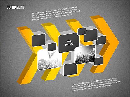 3D Chevron Timeline Diagram, Slide 14, 02142, Timelines & Calendars — PoweredTemplate.com