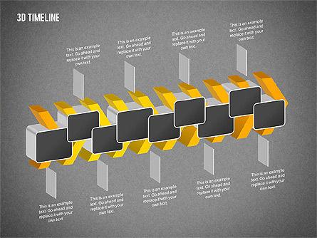 3D Chevron Timeline Diagram, Slide 15, 02142, Timelines & Calendars — PoweredTemplate.com