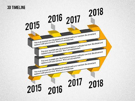 3D Chevron Timeline Diagram, Slide 2, 02142, Timelines & Calendars — PoweredTemplate.com