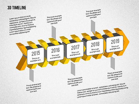 3D Chevron Timeline Diagram Slide 4