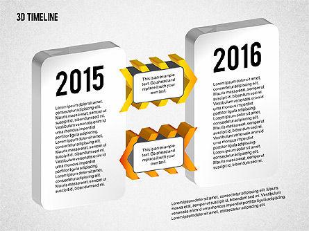 3D Chevron Timeline Diagram, Slide 5, 02142, Timelines & Calendars — PoweredTemplate.com