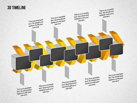 3D Chevron Timeline Diagram, Slide 7, 02142, Timelines & Calendars — PoweredTemplate.com