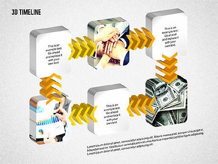 3D Chevron Timeline Diagram, Slide 8, 02142, Timelines & Calendars — PoweredTemplate.com
