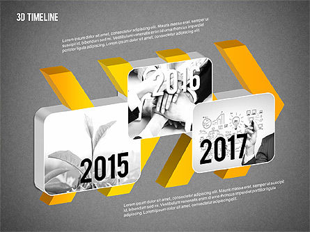 3D Chevron Timeline Diagram, Slide 9, 02142, Timelines & Calendars — PoweredTemplate.com