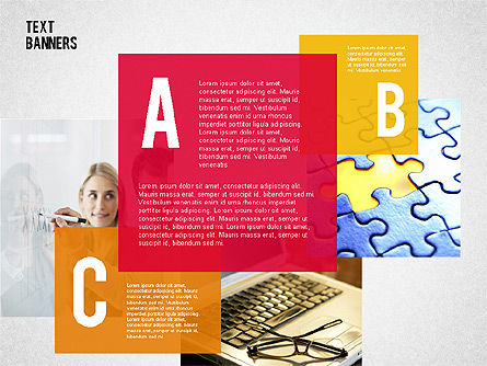 Shaped Text Boxes, Slide 2, 02143, Text Boxes — PoweredTemplate.com