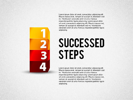 Success Stages, 02144, Stage Diagrams — PoweredTemplate.com
