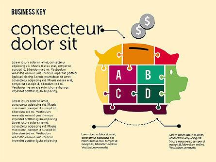 Puzzle Process Shapes, Slide 2, 02146, Process Diagrams — PoweredTemplate.com