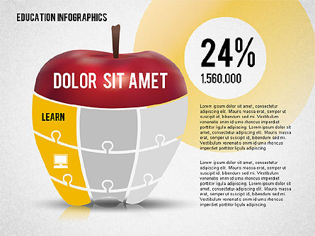 Education Infographics, Slide 4, 02148, Education Charts and Diagrams — PoweredTemplate.com