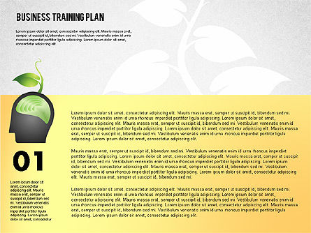 Business Training Plan, Slide 2, 02153, Stage Diagrams — PoweredTemplate.com
