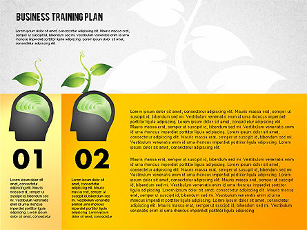 Business Training Plan, Slide 3, 02153, Stage Diagrams — PoweredTemplate.com