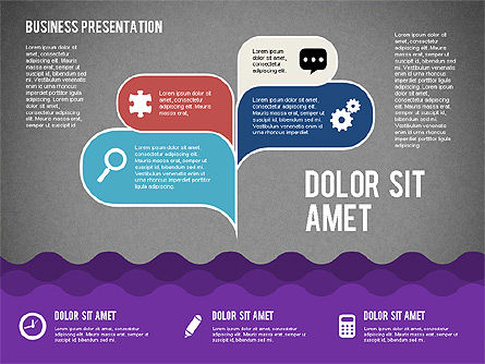 Presentation with Icons and Shapes in Flat Style, Slide 10, 02155, Presentation Templates — PoweredTemplate.com