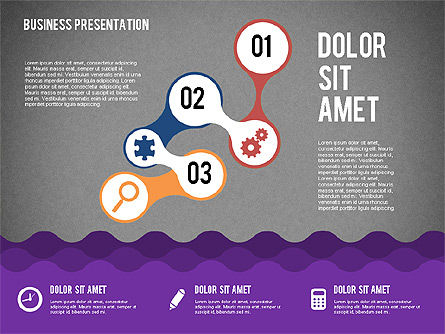 Presentation with Icons and Shapes in Flat Style, Slide 11, 02155, Presentation Templates — PoweredTemplate.com
