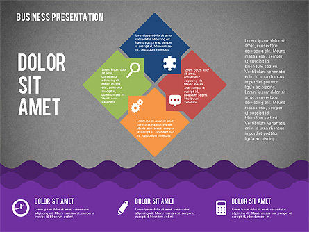 Presentation with Icons and Shapes in Flat Style, Slide 12, 02155, Presentation Templates — PoweredTemplate.com