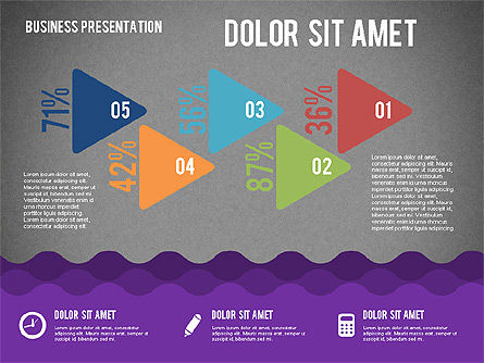 Presentation with Icons and Shapes in Flat Style, Slide 13, 02155, Presentation Templates — PoweredTemplate.com